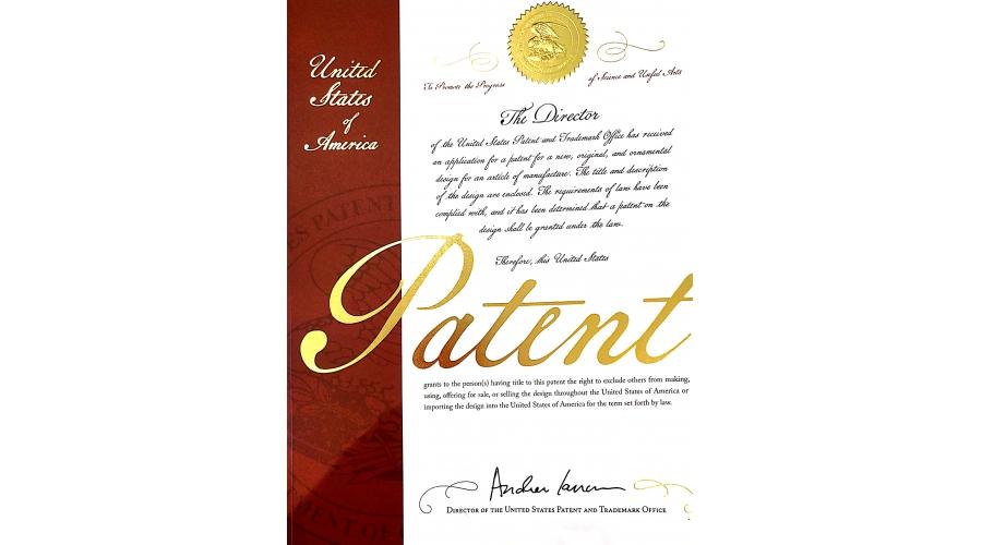 美国外观专利证书
